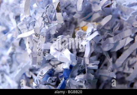 Fotografia della carta tagliuzzata documenti privacy identità di frode Immagini Stock