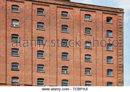 Windows. Magazzino di Londra, Manchester, Regno Unito. Architetto: Archer Humphreys architetti, 2018. Immagini Stock