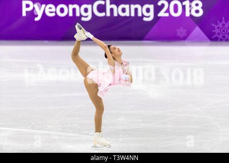 Kailani Craine (AUS) competere nel pattinaggio di figura - Ladies' breve presso i Giochi Olimpici Invernali PyeongChang 2018 Immagini Stock