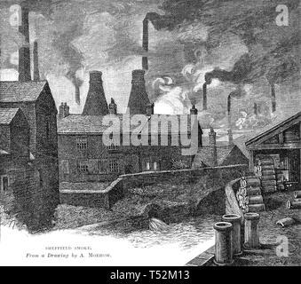 In acciaio Sheffield lavora nel 1880 Immagini Stock