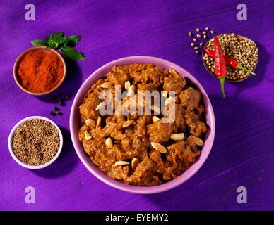 INDIAN agnello rogan josh CURRY Immagini Stock