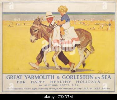 Great Yarmouth e Gorleston on sea, da Septimus Scott. Inghilterra, nei primi anni del XX secolo Immagini Stock