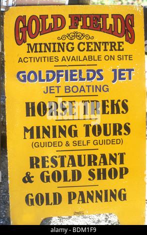 Poster per le attività turistiche a Arrowtown in,Otago Nuova Zelanda ,Isola del Sud Immagini Stock