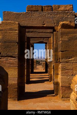 Amon temple gate, la Nubia, Naqa, Sudan Immagini Stock