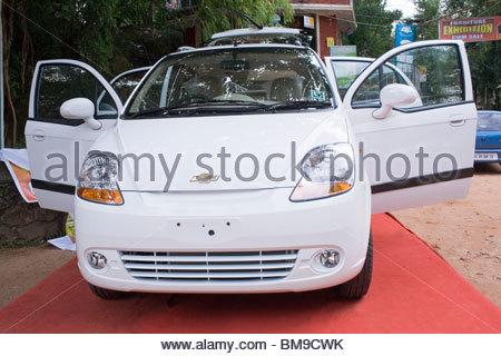 Un auto sul display, Kerala Immagini Stock