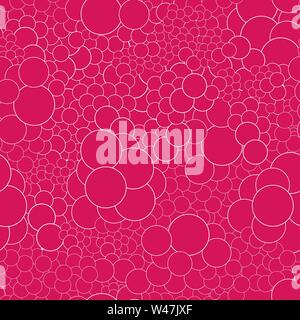Seamless pattern con cerchi di colore rosso con profilo bianco. Ideale per prodotti tessili, confezione, carta stampa, semplice sfondi e texture. Immagini Stock