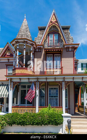 Stati Uniti d'America,New Jersey,Cape May, casa vittoriana Immagini Stock