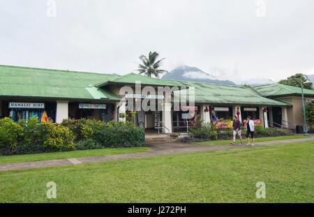 Hanalei Kauai Hawaii vecchia scuola di Hanalei che è ora un centro commerciale e un ristorante North Shore Immagini Stock