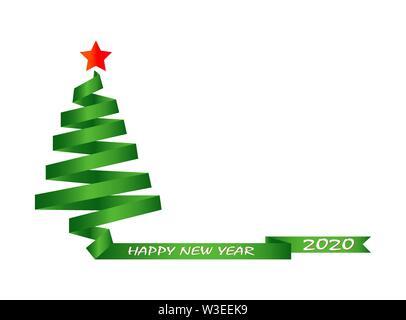 I saluti delle vacanze con il nuovo anno 2020 Immagini Stock