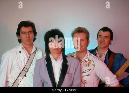 I pretendenti English-American gruppo rock con Chrissie Hynde circa 1980. Foto: Van Houten Immagini Stock
