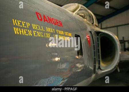 Gli aeromobili jet fusoliera Immagini Stock