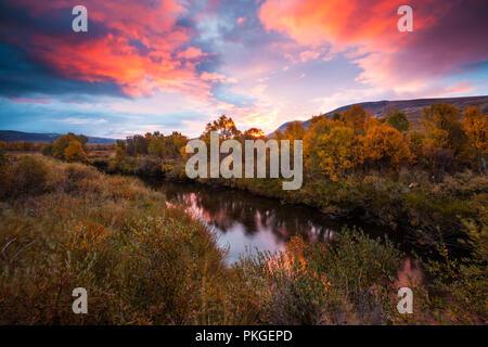 Dovre, Norvegia, Settembre 14th, 2018. I colori autunnali a Fokstumyra riserva naturale, Dovre, Norvegia. Credito: Oyvind Martinsen/ Alamy Live News Immagini Stock