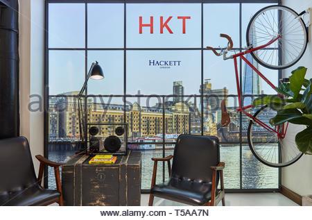 Schermo a HKT. HKT Showroom, Londra, Regno Unito. Architetto: N/A, 2019. Immagini Stock