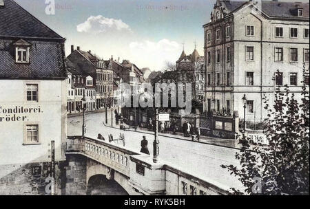 Ponti in Döbeln, panetterie in Sassonia, edifici in Döbeln, 1916 Landkreis Mittelsachsen, Döbeln, St Georgen Straße, Germania Immagini Stock