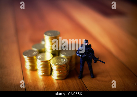 Federal Reserve: proteggere l'oro Immagini Stock