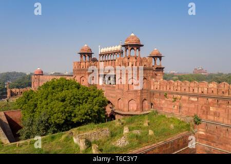 India, Nuova Delhi, Fort rosso Immagini Stock