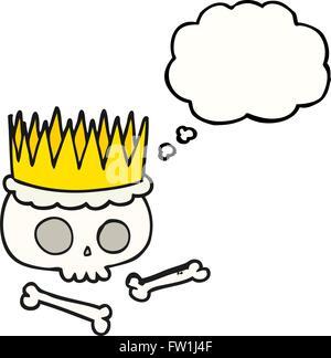 Disegnate a mano libera bolle di pensiero cartoon crown Immagini Stock