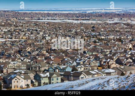 Stati Uniti d'America, Colorado, Superior, maggiore Denver sviluppo suburbano Immagini Stock
