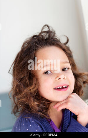 Ritratto di ragazza sorridente Immagini Stock