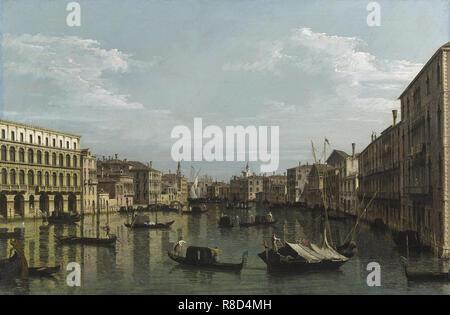 Il Grand Canal guardando verso sud da Ca? Foscari la carità.à, ca 1738. Collezione privata. Immagini Stock