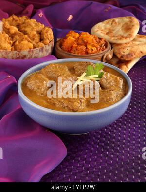 Agnello indiano MADRAS curry di carne pasto Immagini Stock