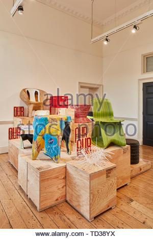Installazione da 56th Studio per la Germania. London Design Biennale 2018, Londra, Regno Unito. Architetto: Vari , 2019. Immagini Stock