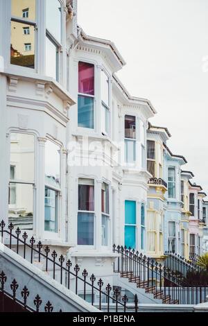 Architettura britannica, Brighton, Inghilterra Immagini Stock