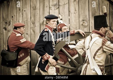 Canada,Ontario,Niagara sul lago, Fort George National Historic Park, la guerra di 1812 rievocazione Immagini Stock