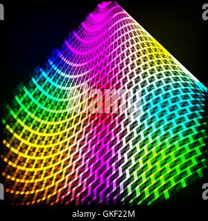 Spettro di astratta sfondo scuro con brillantini colorati. Immagini Stock