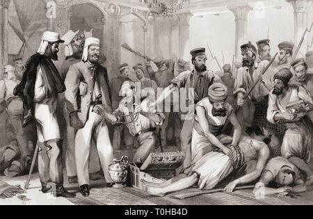 Tempi di ricerca corrispondente al saccheggio di Kaiser Bach cattura di Lucknow, India, Asia Immagini Stock