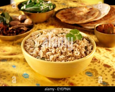 INDIAN BROWN integrali di riso basmati Immagini Stock