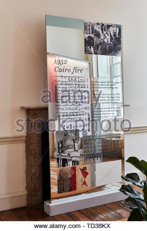 Installazione di zeina Khalifa e Cairobserver (vari designer), per l'Egitto. London Design Biennale 2018, Londra, Regno Unito. Architetto: Vari , Immagini Stock