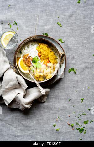 Indian Vegan cena Immagini Stock