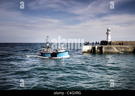 Mevagissey,Cornwall,West Country,l'Inghilterra,UK Immagini Stock