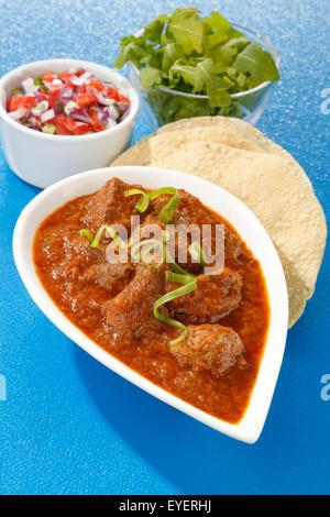 Pollo indiano rogan josh Immagini Stock