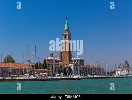 San Giorgio Maggiore basilica, regione Veneto, Venezia, Italia Immagini Stock