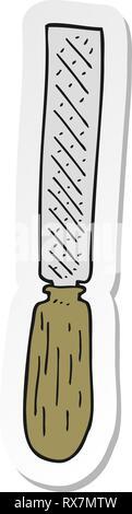 Adesivo di un cartoon file di metallo Immagini Stock