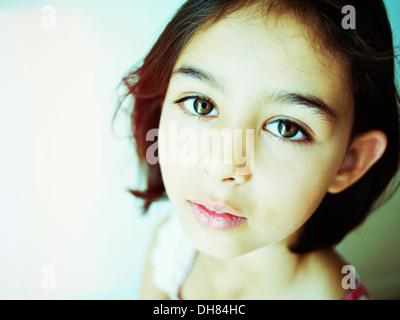 Ritratto di ragazza Immagini Stock