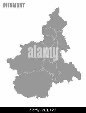 Regione Piemonte Cartina Politica.Piemonte Mappa Amministrativa Italia Immagine E Vettoriale Alamy