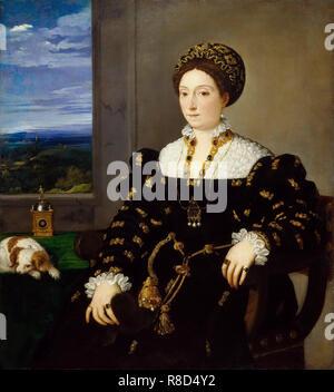 Ritratto di Eleonora Gonzaga della Rovere (1493-1550), la duchessa di Urbino, ca 1538. Presenti nella collezione della Galleria degli Uffizi di Firenze. Immagini Stock
