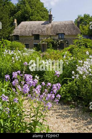 Hardy's Cottage, il luogo di nascita nel 1840 del romanziere e poeta Thomas Hardy , a maggiore Brockhampton, Immagini Stock