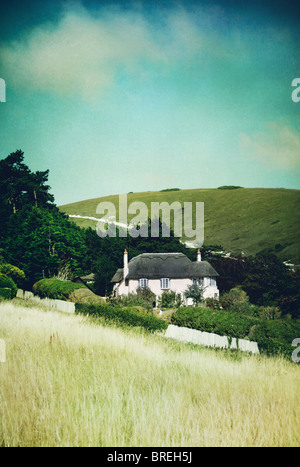 Cottage in Dorset,l'Inghilterra,UK Immagini Stock
