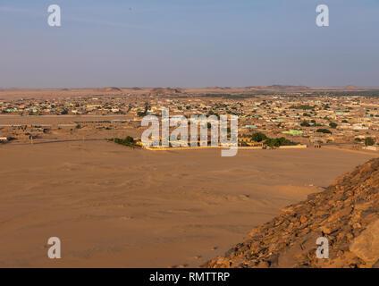 Paesaggio urbano da Gebel Barkal top, Stato settentrionale, Karima, Sudan Immagini Stock