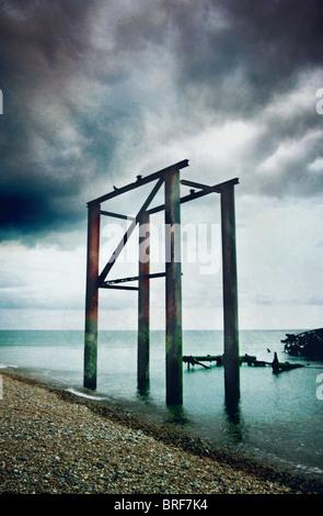 Il vecchio molo di Brighton Immagini Stock
