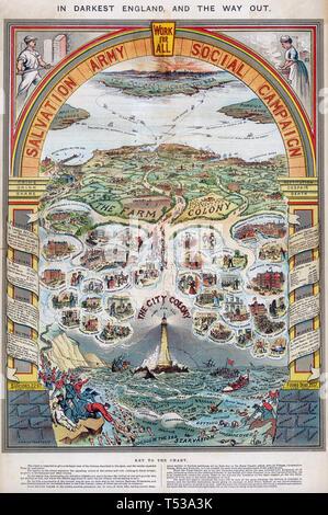 Esercito della salvezza sociale poster della campagna 1880 Immagini Stock