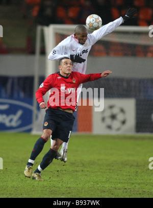 La Russia s CSKA Soccer team si è incontrato con i Paesi Bassi il PSV Eindhoven a Mosca per il quinto round Immagini Stock