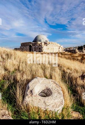 Umayyad Palace, Amman Cittadella, Governatorato di Amman, Giordania Immagini Stock