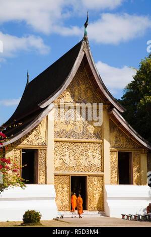 Laos, Luang Prabang, Wat Xieng Thong, il carro funebre House Immagini Stock