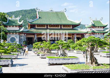 Linh Ung Pagoda, Lady Tempio del Buddha, Da Nang, Vietnam Immagini Stock