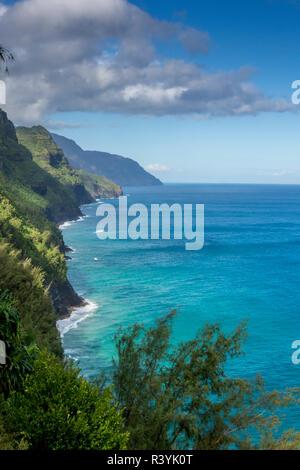 Hawaii, Kauai, Napali, Costa Napali parco dello stato Immagini Stock